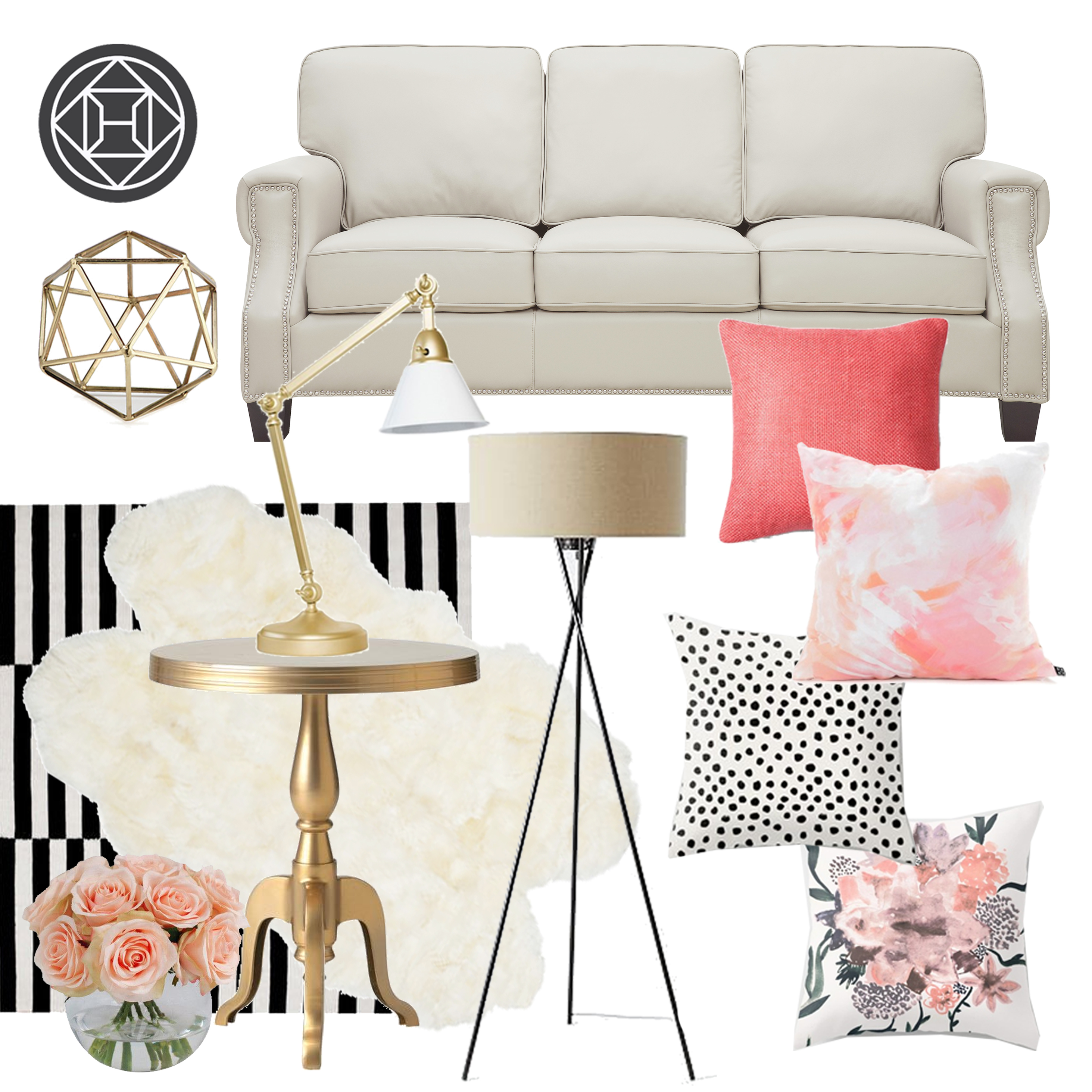 Glam Living Room All Day! - The Karma Corner