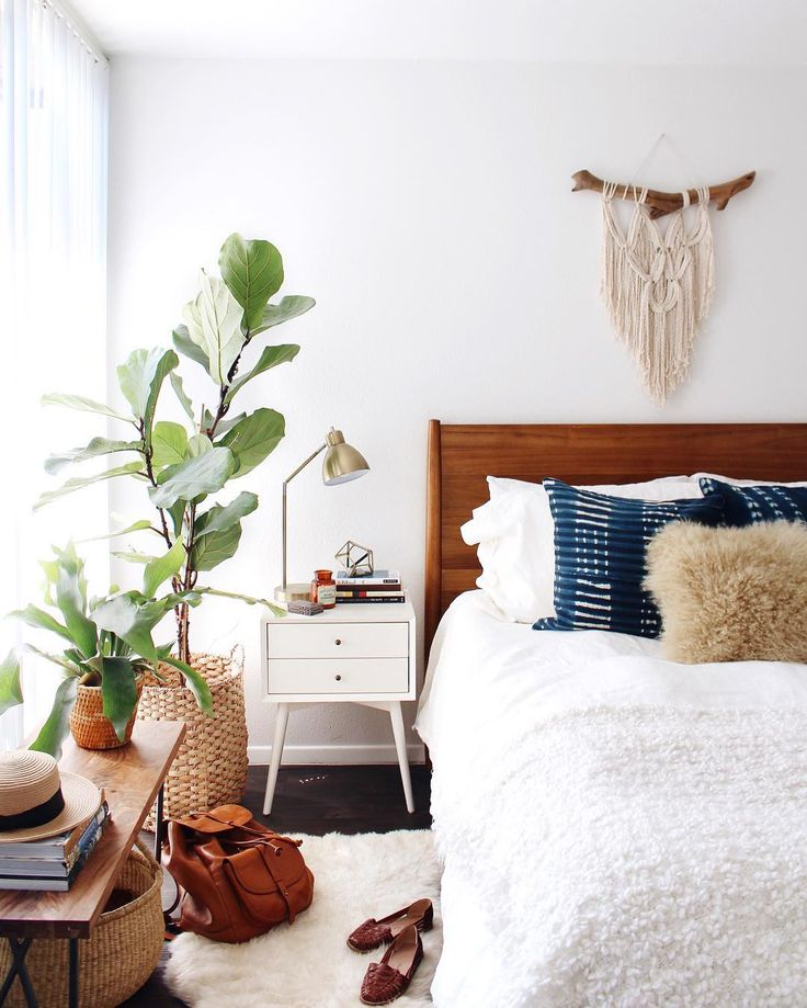 contemporary boho bedroom
