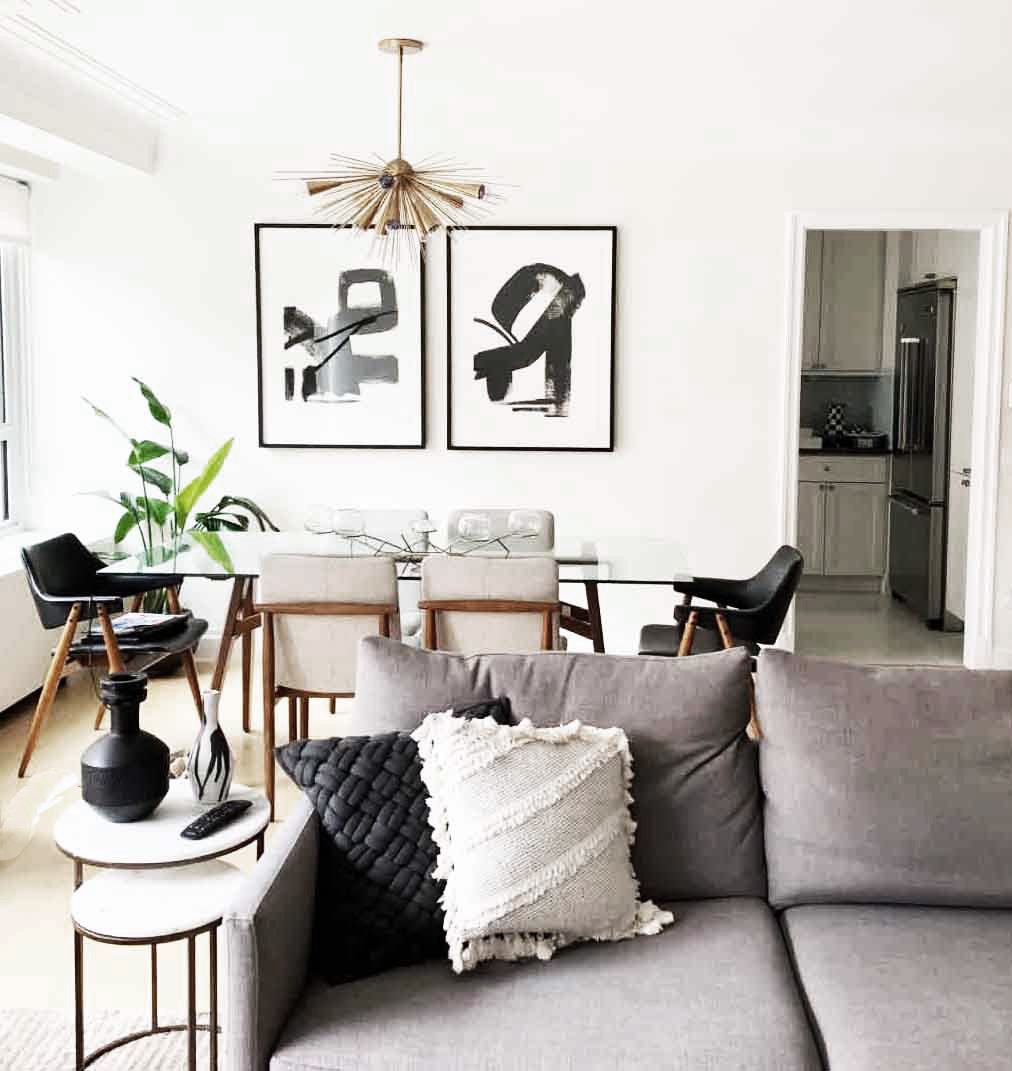 Modern Eclectic Living Dining Room The Karma Corner